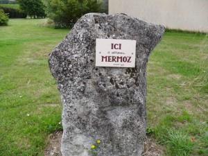 Plaque en souvenir du passage de Jean MERMOZ